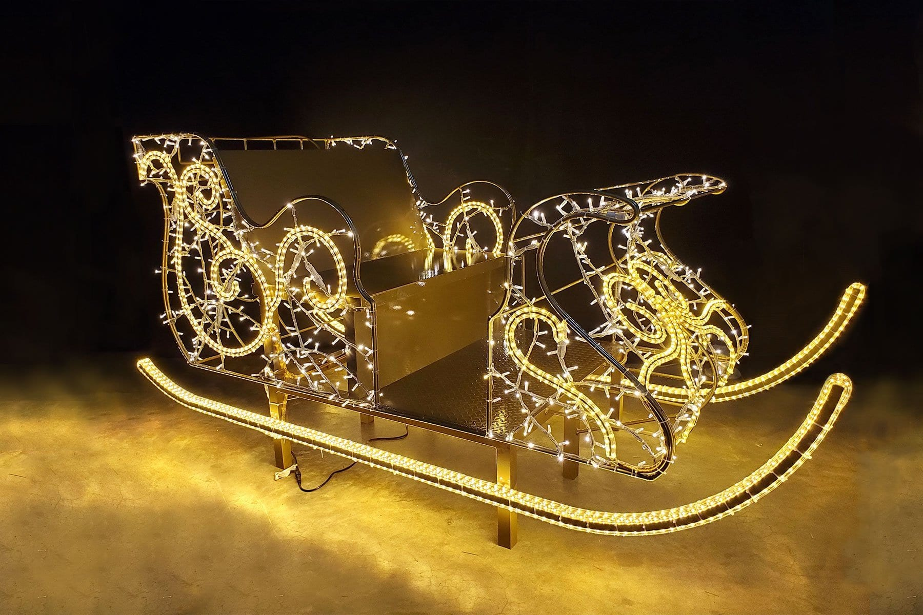 Interactive Sleigh in Lights