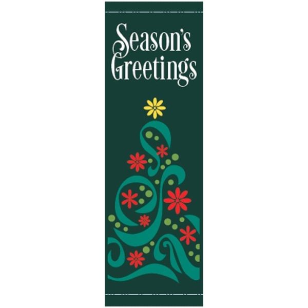 Filigree Tree 20818 Winter Holiday Banner