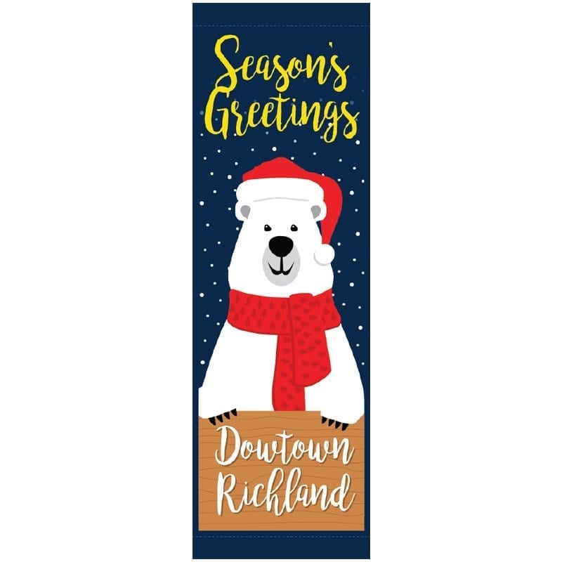 Santa Bear 20815 winter holiday banner