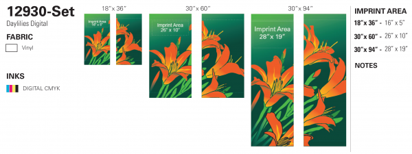 12930-set Daylilies Digital recipe