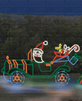 SSTL-74 Antique Santa Car