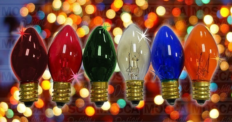 C7 Incandescent Twinkle Colors