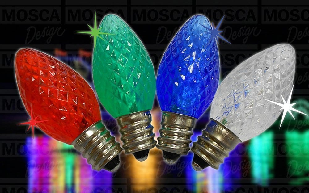 C7 LED Twinkle Lamps Colors