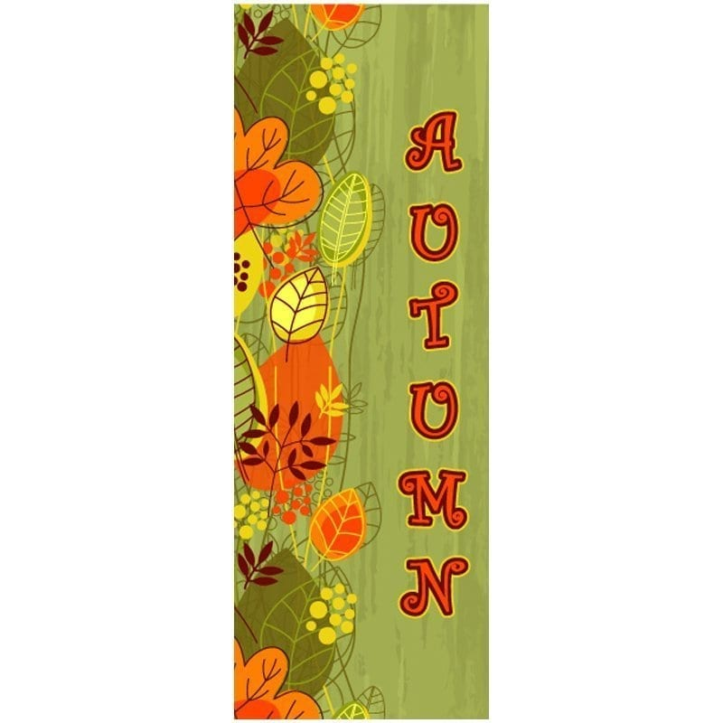 14D816 fall winter holiday banner