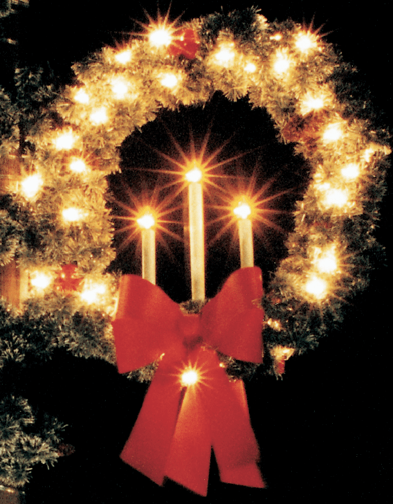 Pole Mounted Candle Wreath P-332