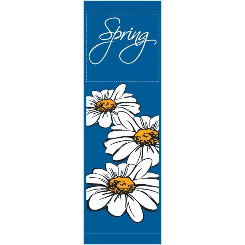 English Daisies 16305 spring summer banner