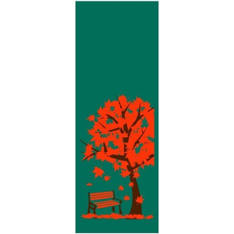 Tree with Bench 102418 fall winter holiday banner