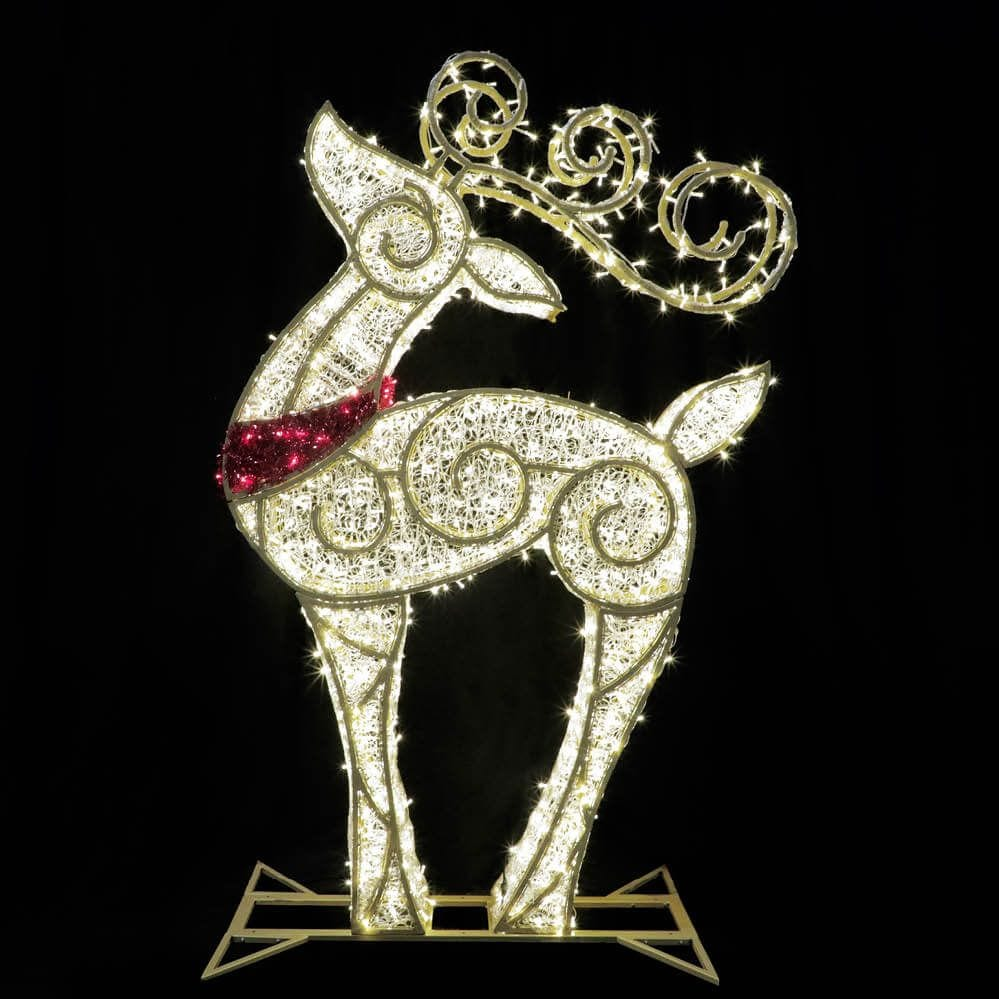 Illuminated Photo Op Reindeer